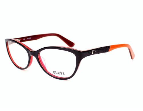 NEW Guess 2509-52048 Black Orange 52mm Eyeglasses