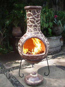 Image Is Loading Mexican Clay Chimenea Clay Chiminea Patio Heater Fire