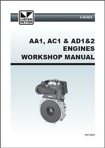 genuine petter aa ac ad direct injection workshop manual 027 09202 rh ebay co uk