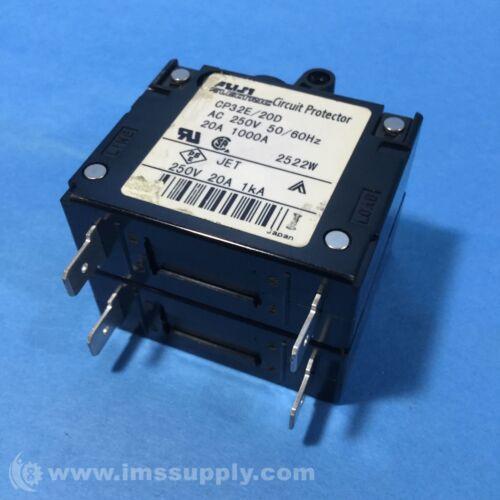 FUJI ELECTRIC CP32E//20D CIRCUIT PROTECTOR 20AMP 250VAC 50//60HZ USIP