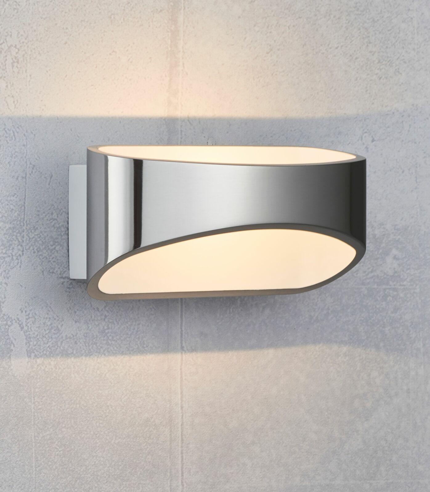 Modern LED Wall Up Down Light Polished Aluminium 5W Warm Weiß A++