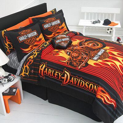 Harley Davidson Flame Rider Fireball Sheet Sets-Full Size