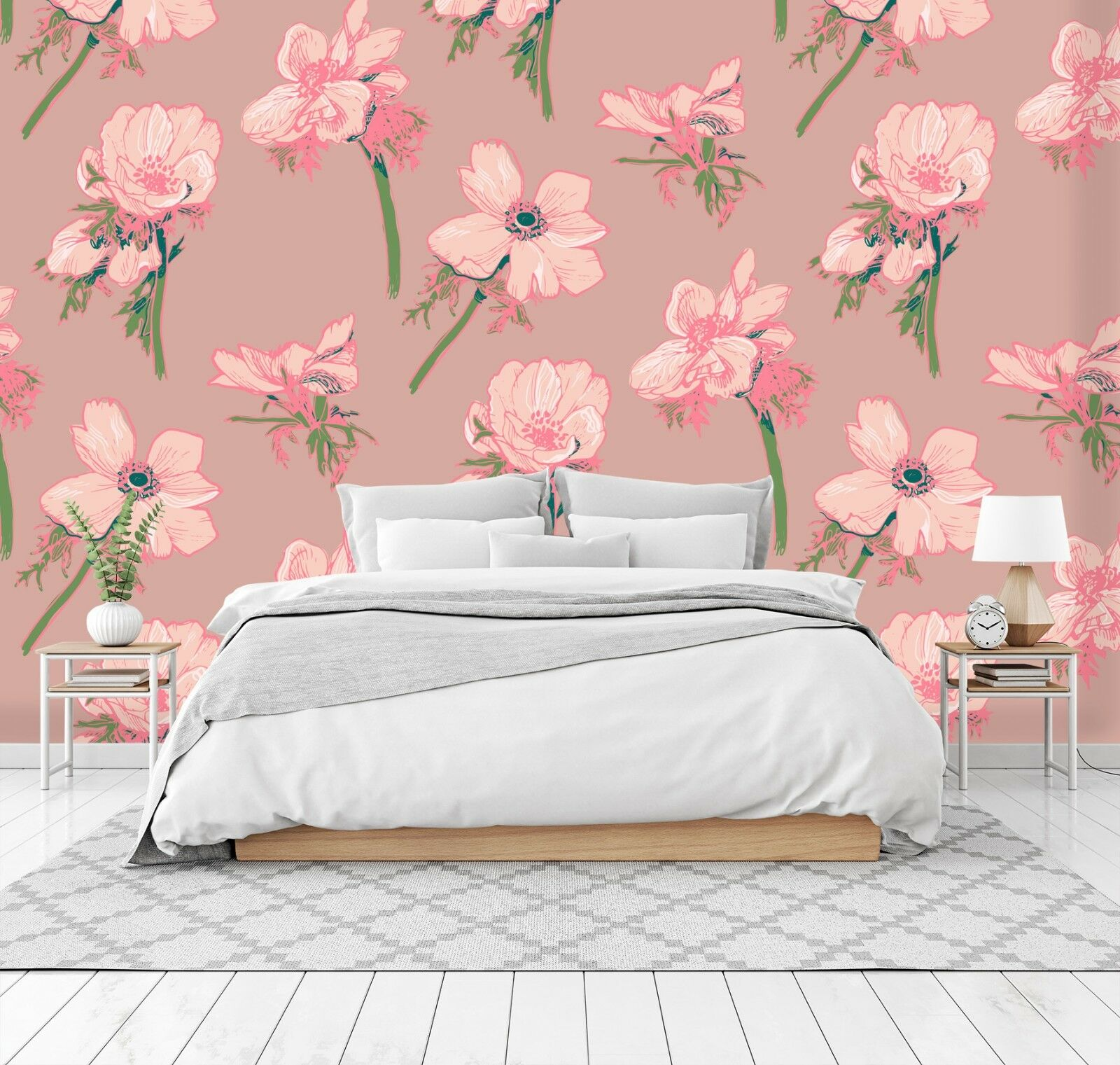 3D Pink Pattern Flower 45 Wall Paper Wall Print Decal Wall Deco Indoor Murals