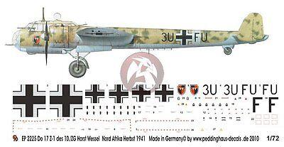 Peddinghaus 2225 1//72 Do 17 Z-1 of 10 ZG 26 Horst Wessel Libya Autumn 1941