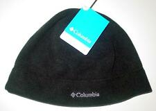 NWT Licensed Columbia Unisex MIDNIGHT BLACK Fleece Beanie Skull Cap Hat L/XL  CR