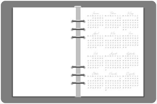 1 Jahr auf 1 Seite Kalendereinlagen 2020 in DIN A5