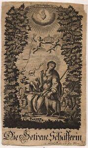 Qualifié Les Fidèles Bergère Agneau Gnadenbild Icône 18. Jh. Winkler Vienne (o-8077-afficher Le Titre D'origine