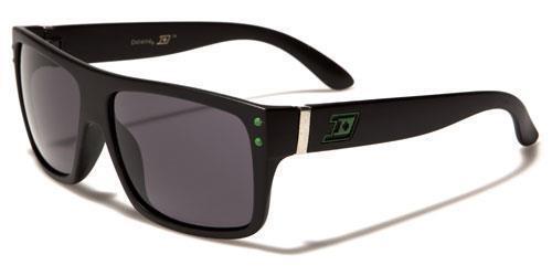 Neu Sonnenbrille Schwarz Herren Damen Junge Retro Flache Oberseite Gewickelt