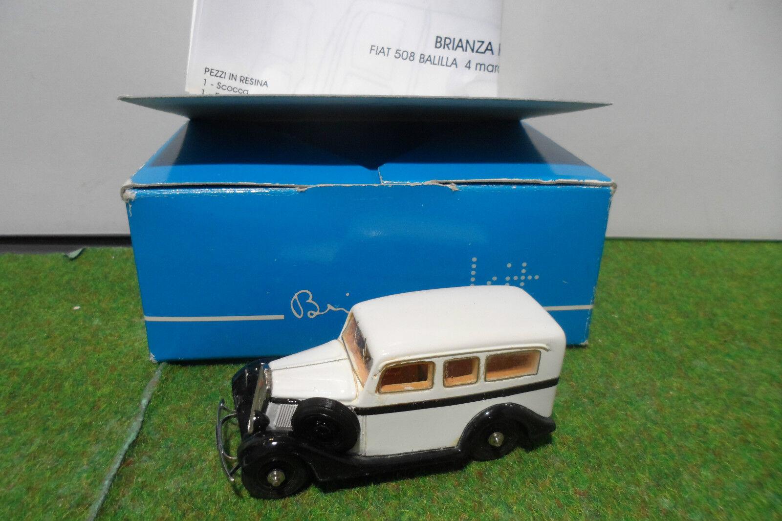 FIAT  508 BALILLA 4 MARCE AMBULANZA 1934 KIT MONTE au 1 43 de ABC BRIANZA BRK06A