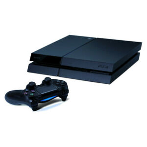 Sony PlayStation 4 (PS4) 500GB - Jet Black Console with Controller & Wires