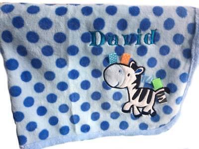 2019 Moda Personalizzato Morbido Snuggle Baby E Logo Ricamato Coperta Nome Neonato Regalo Di Natale- Ottima Qualità
