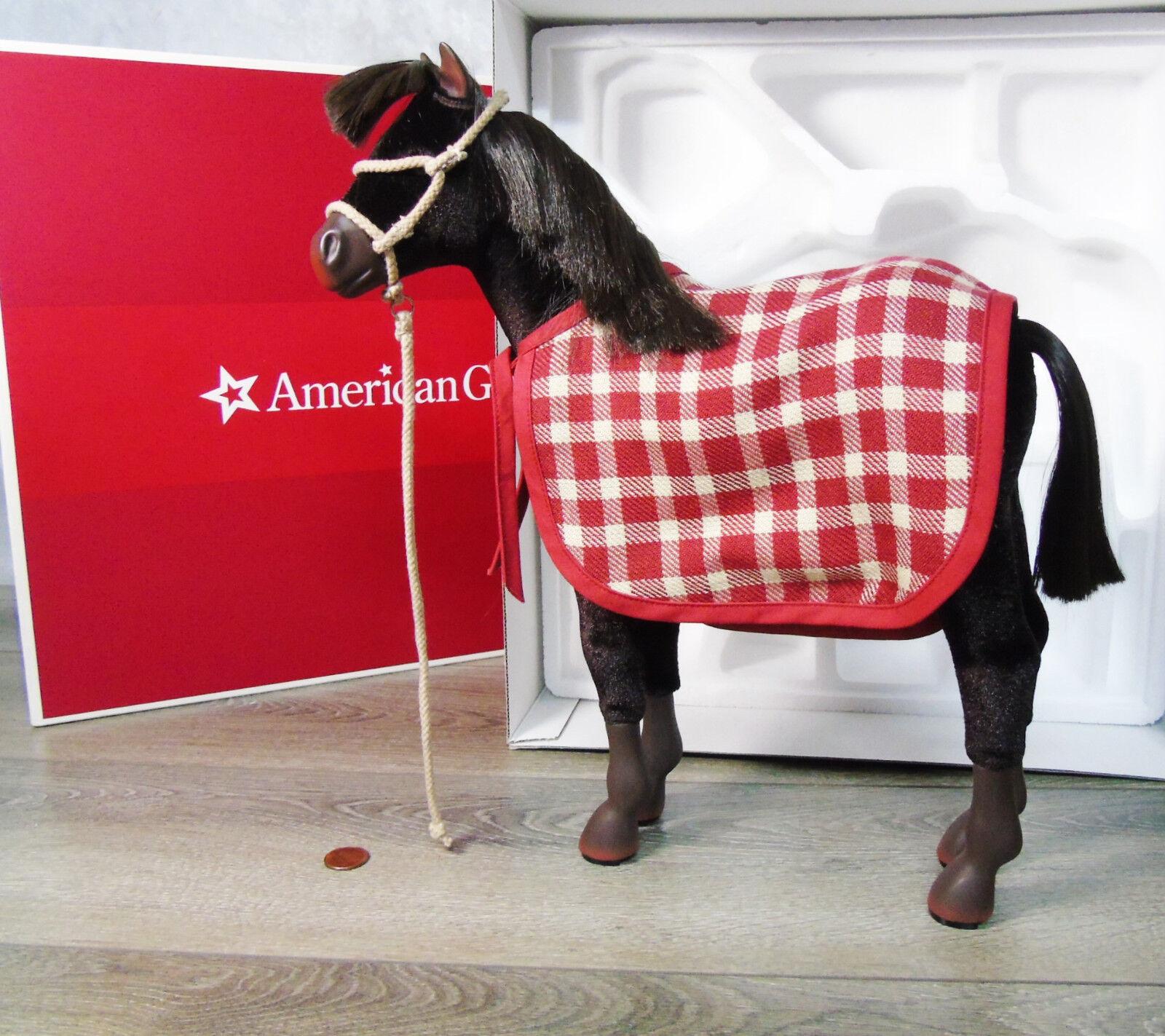 Nuevo American Girl Doll felicidad Potro Caballo Patriot Mascota Manta Halter Plomo Caja