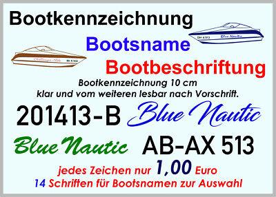 Höhe 20cm Zahlen o 1 Zeichen FZ2895 Buchstaben für Bootsnummer