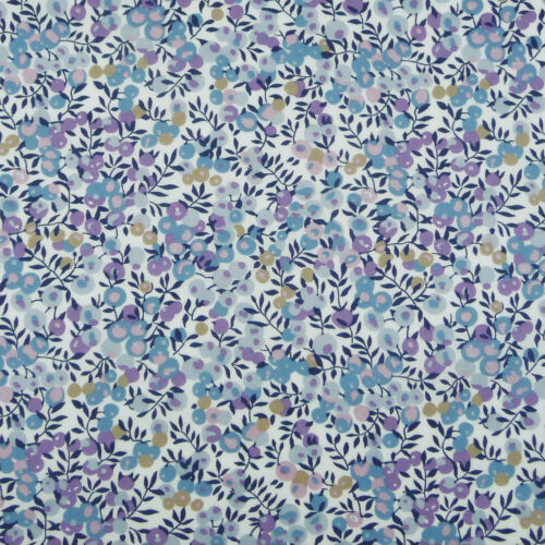 quilting dressmaking baby Liberty ~ Wiltshire Berry E Blue Tana Lawn Fabric