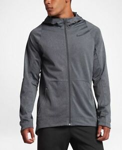new arrivals 1b04a dbf75 Image is loading Nike-HyperElite-Hoodie-Mens-776091-071-Charcoal-Dri-