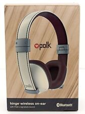 NEW SEALED Polk Hinge Wireless On-Ear Bluetooth Headphones Camel/White AM4218-A