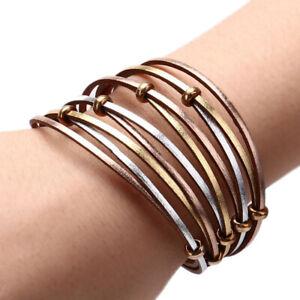 New-Fashion-Lady-Leather-Multi-Layer-Beads-Handmade-Bracelet-Jewelry-Accessor-ls