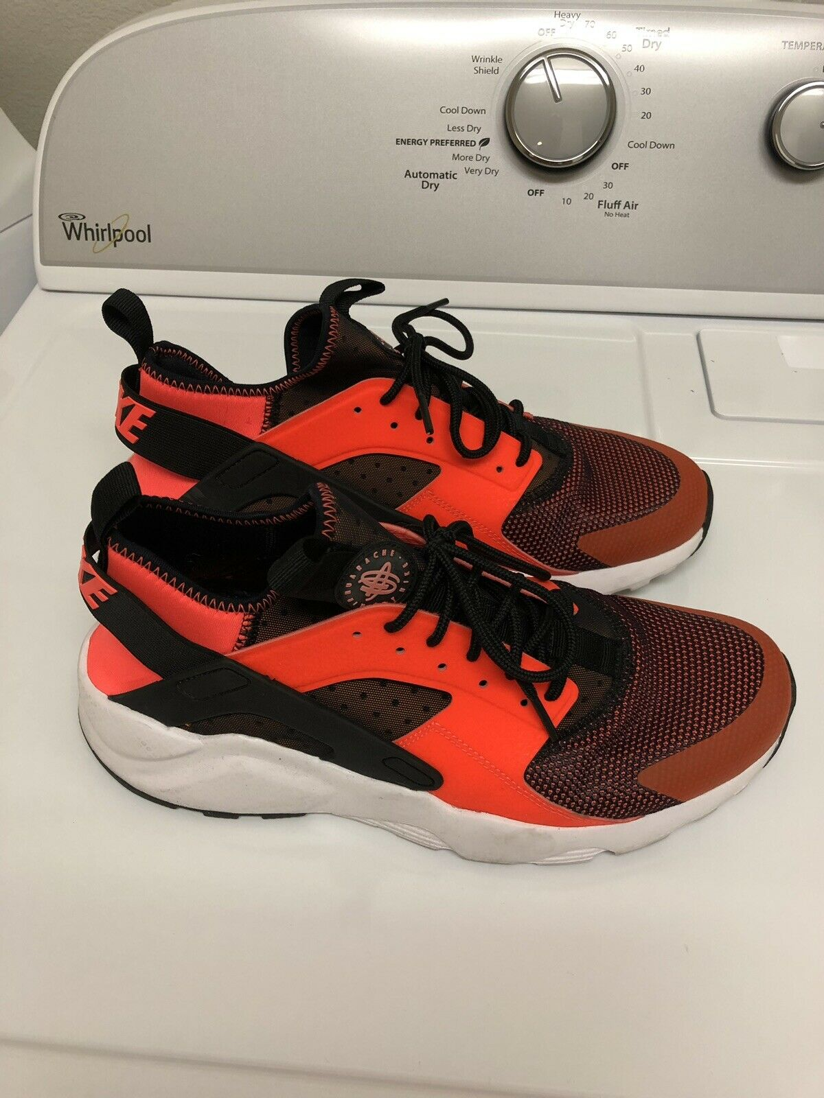 Nike Air Huarache Run Ultra Crimson orange shoes Sneakers Sz 10 819685-008