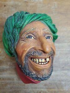 Vintage Bossons England Chalkware Head Wall Ornament Head Kurd