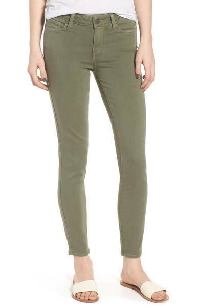NEW PAIGE VERDUGO TRANSEND ULTRA SKINNY JEANS IN GREEN SIZE 31
