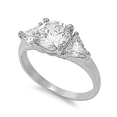 Stainless Steel Engagement Party Wedding Ring with Clear CZ Sizes 5 6 7 8 9 10