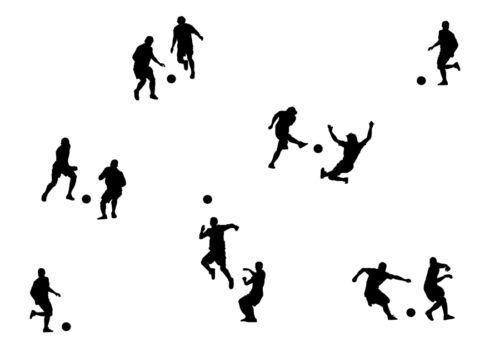Fußball Wandtattoo Aufkleber versch Farben