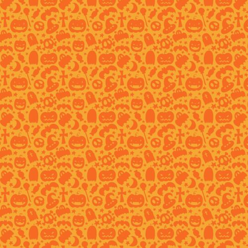 Printed Bow Fabric A4 Canvas Halloween Pumpkin Bats HW11 Make glitter hair bows