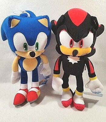 Sega Sonic The Hedgehog Video Game Sonic Shadow Stuffed Plush Doll Toy Set Ebay