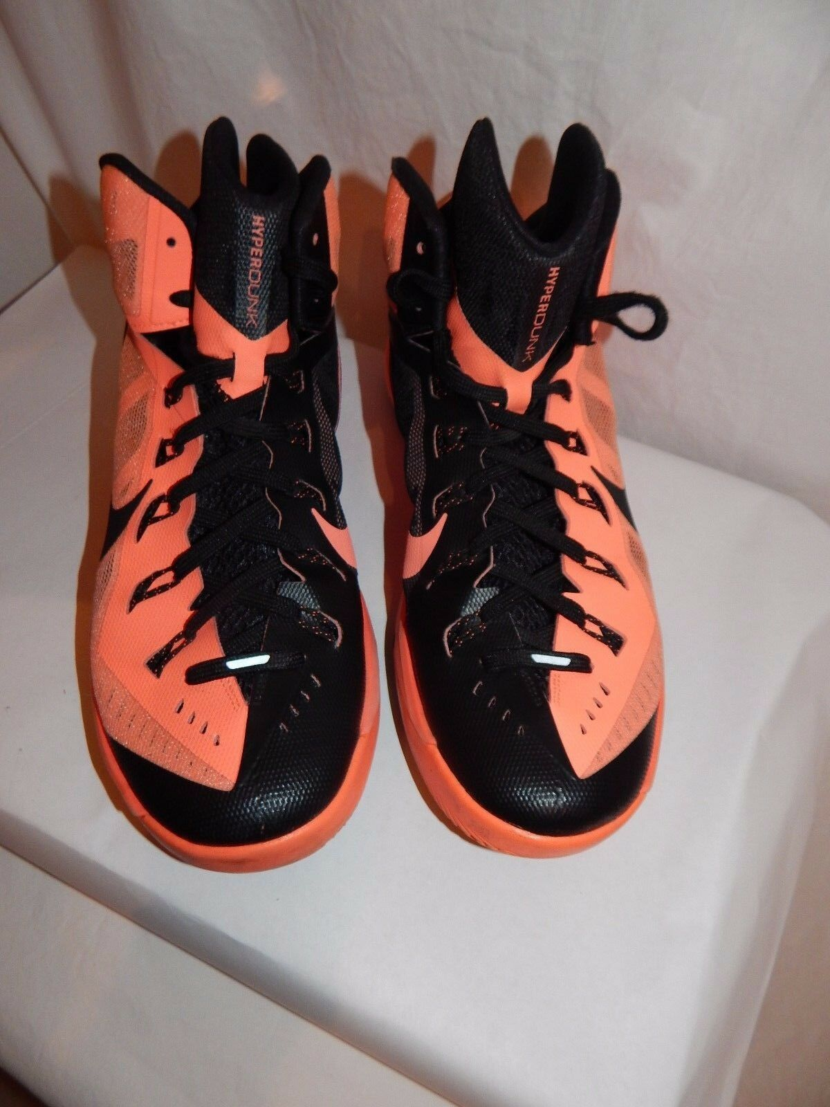 2014 Nike Sz 11.5 Men's Hyperdunk Basketball Shoe 653640-800 Mango/Black