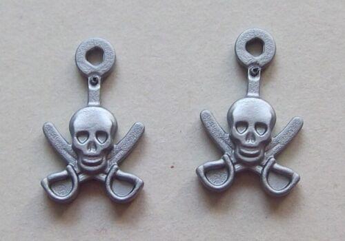 2x hutschmuck Argento Teschio 16901 Pirata
