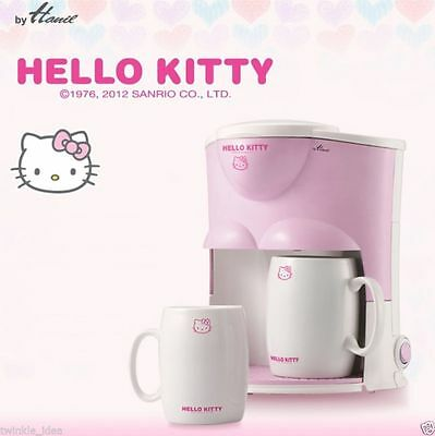 Hello Kitty Drip Coffee Maker Mini Espresso Machine 2 Cups Included Wedding Gift