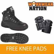 Sterling Ss812sm Waterproof Leather Safety Work Boot Steel Toe Free Knee Pads