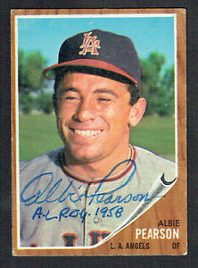 Albie-Pearson-343-signed-autograph-auto-1962-Topps-Baseball-Trading-Card