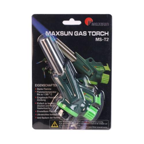 MaXimum Lötbrenner Flambierbrenner Piezo Zündung Set 4 bis 12 Gaskartuschen