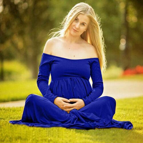 Schwangere Bandeau Umstandsmode Lang Umstandskleid Schwangerschafts Fotoshooting