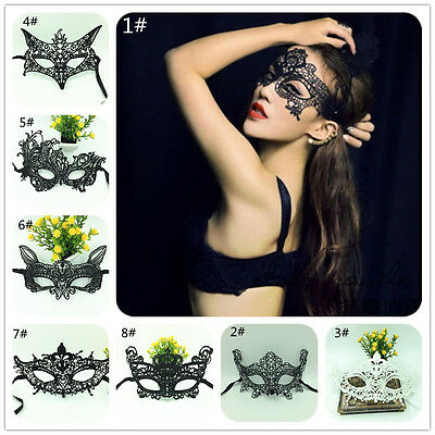 NEW Women Sexy Lace Hollow Eye Face Mask Masquerade Ball Fancy Costume Dress