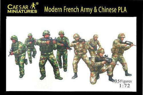 Moderno-ejercito-frances-amp-Chinese-Pla-Cesar-miniaturas-H059-escala-1-72