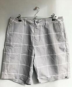 Quiksilver-AMPHIBIAN-BOARDWALK-Mens-Size-32-Short-Boardshorts-Walkshorts-Grey