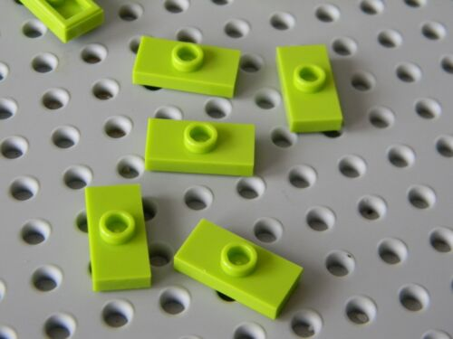 Jumpers New Condition !!!! Lego 50 Lime Green 1 x 2 Tiles with Center Stud