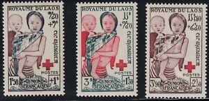 Laos Sc B1-b3 Laotiens Enfants-surtaxe-redcross-neuf Sans Charnières 1953-x-redcross-mnh 1953afficher Le Titre D'origine