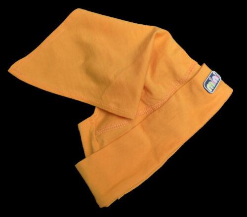 niedliche Sommer Kinder Mädchen Babymütze Zipfelmütze Gr.48-54 orange Tuch 620