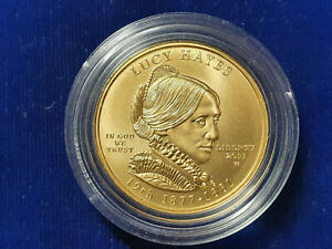 ✨2011-W LUCY HAYES FIRST SPOUSE 1/2 OZ, GOLD COIN UNCIRCULATED PA6 NO-BOX-OR-COA