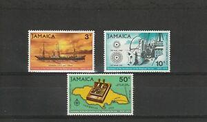 A91-jamaïque-sg320-322 Neuf Sans Charnière 1970 Centenaire Du Service Télégraphique