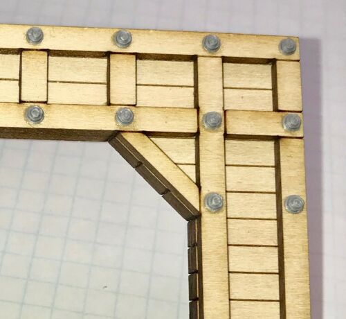 Branch Line Timber Tunnel Portal S Scale 1:64 Model Railroad Accessory KIT