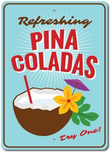 Coconut Drink Aluminum Sign ENSA1003399 Pina Coladas Sign Pina Colada Decor