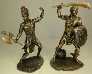 SET-of2-ORISHA-OGGUN-amp-CHANGO-Yoruba-African-God-War-Fire-Statue-Sculpture-Ogun