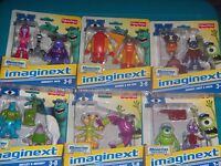 Lot Of 6 Imaginext Disney Monsters University Character Action Figure Playsets