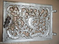22095 Ofentür ohne Rahmen Gründerzeit oven door iron 1890 22x28,5 cm neobarock