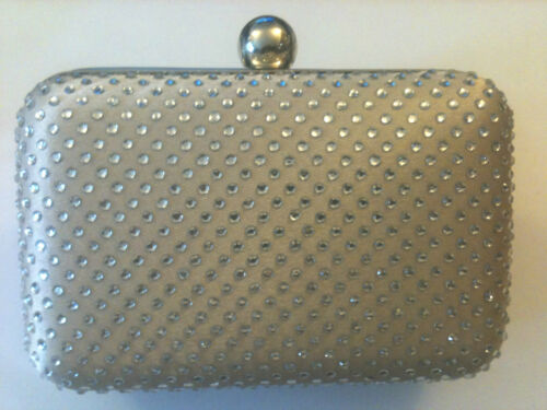 HARD JEWEL CLUTCH BAG PURSE SILVER CLASP EVENING PROM WEDDING RED BRIGHT PINK UK