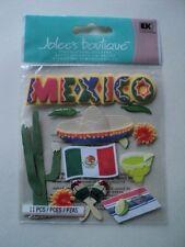 EK SUCCESS JOLEE'S BOUTIQUE MEXICO BRIGHT DIMENSIONAL STICKERS